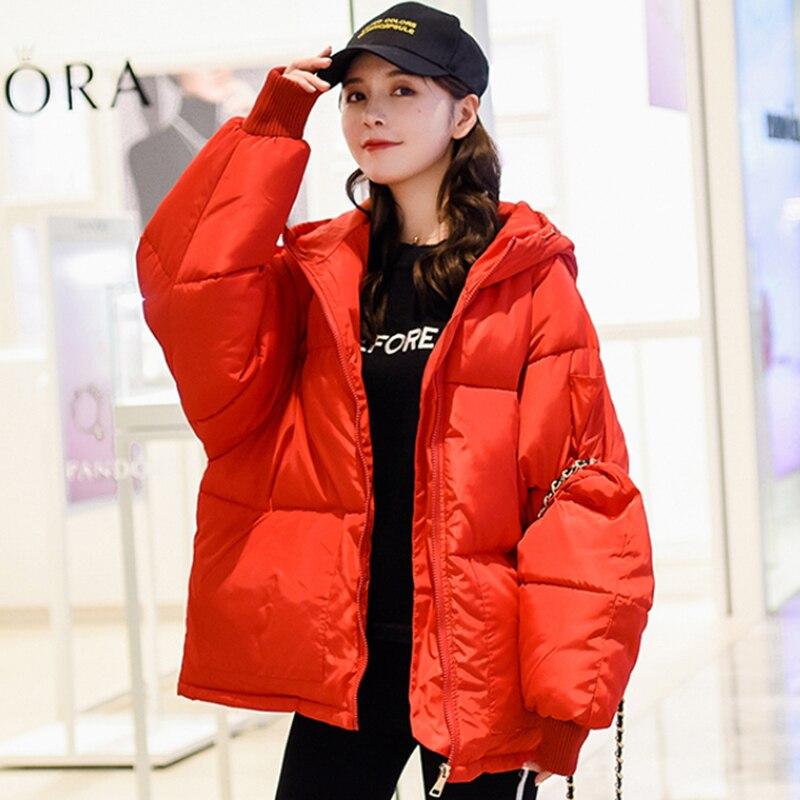 2019 New Korean Style Winter Jacket Women Hooded Oversize Loose Padded Female Coat Fashion Parka Mujer Invierno