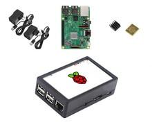 Raspberry Pi Модель 3 B + Starter Kit w/3,5 дюймов М 128 М SPI ЖК дисплей мощность радиатора