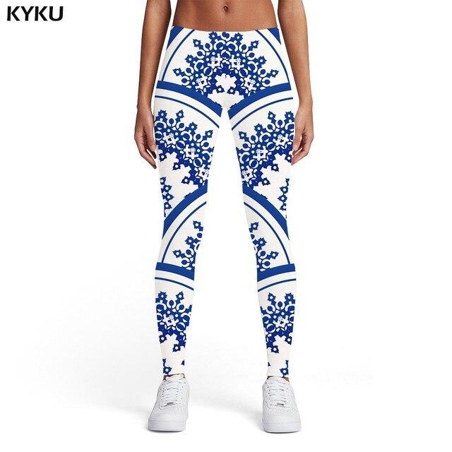 KYKU Psychedelic Leggings Women Colorful Sport Gothic Trousers Art Elastic Dizziness 3d Print Womens Leggings Pants Fitness 5
