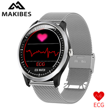 Free strap Makibes BR4 ECG PPG smart watch with electrocardiogram display heart rate blood pressure smart Band Fitness Tracker
