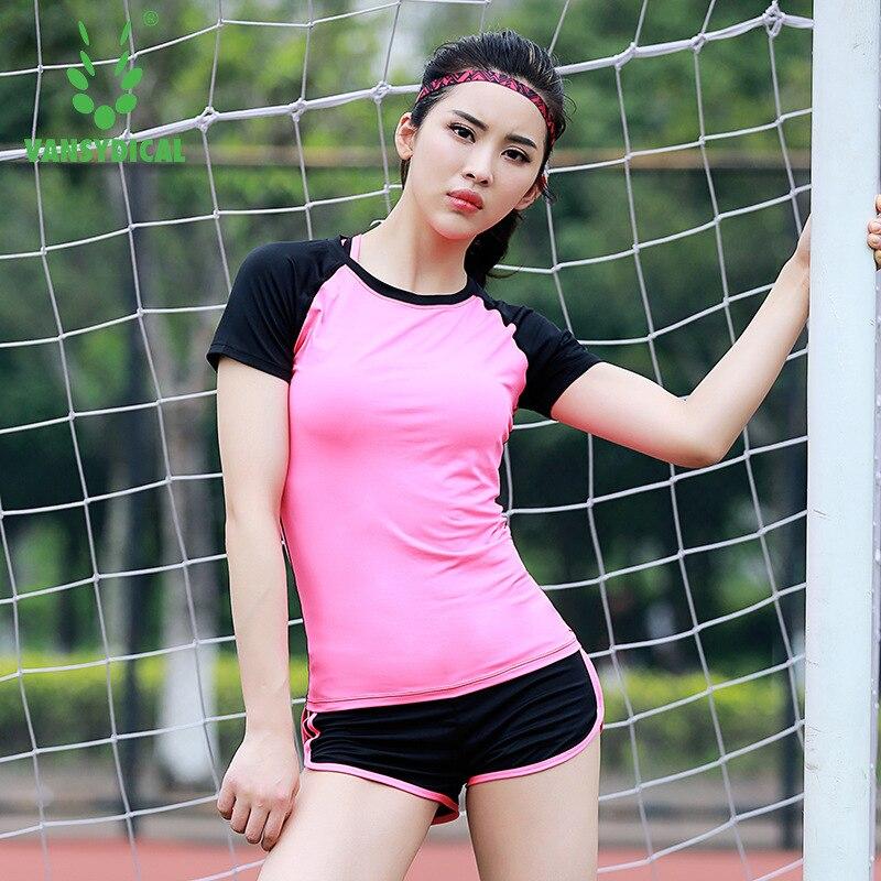 T-shirt Fitness Femmes vêtements de sports perméables Femmes T-shirt Sport Costume Haut De Yoga à Séchage Rapide Maillot de Course Vêtements De Sport