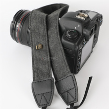 Retro Elegant Durable Cotton Leather Adjustable Camera DSLR Strap Shoulder Neck Soft Belt for Canon Nikon Sony Pentax SLR
