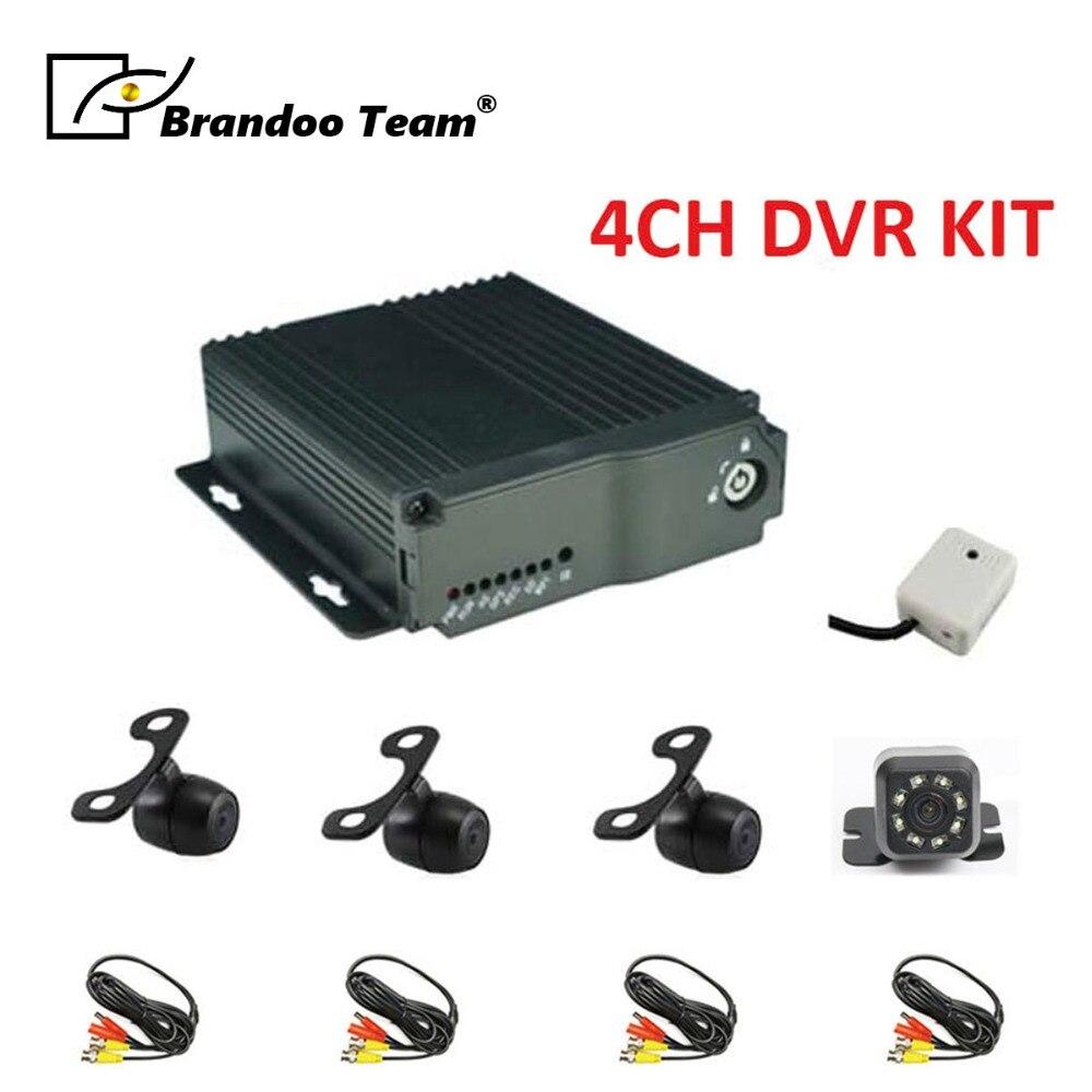 4ch мобильный видеорегистратор на 4 канала H.264 SD автомобилей автомобиля Мобильный dvr Наборы 4CH Запись видео Автомобильный видеорегистратор MDVR...