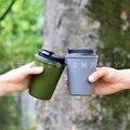 350 мл Гладкий стаканчик для кофе с термоизоляцией полипропилен/силиконовая резиновая кружка для кофе