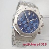 Модные мужские часы из нержавеющей стали с синим циферблатом мужские наручные часы 2018 мужские часы лучший бренд класса люкс повседневные ч