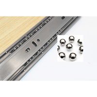 Drawer Slides 2PCS 12inch Extension Stainless Steel Drawer Slides 30CM Prevent Collision Hardware Accessories