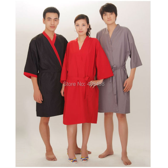 A02 Black Red Grey Salon SPA Client Gown Robes Hair Cutting Cape