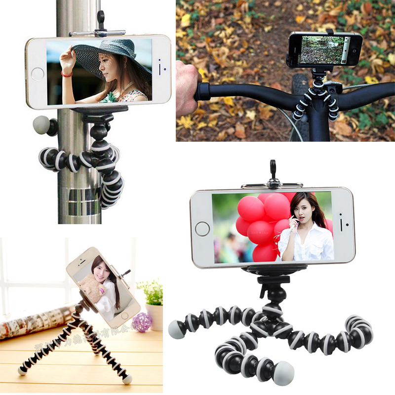 Universal Octopus MINI Tripod Stand Flexible Gorillapod Tripods Stander for GoPro Camera iPhone 6 6S Samsung
