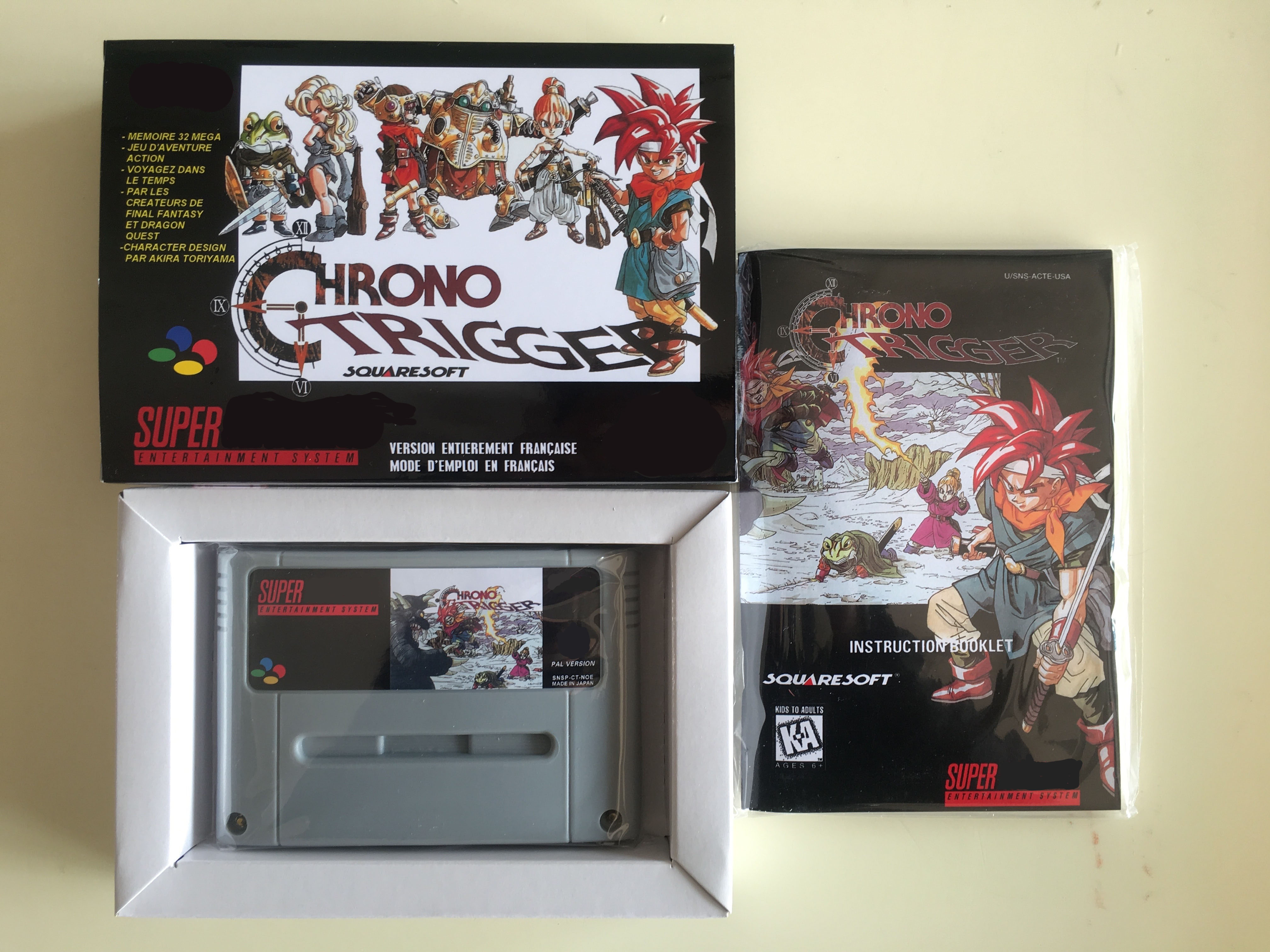 PAL Version Complete CHRONO TRIGGER Game English For SNES