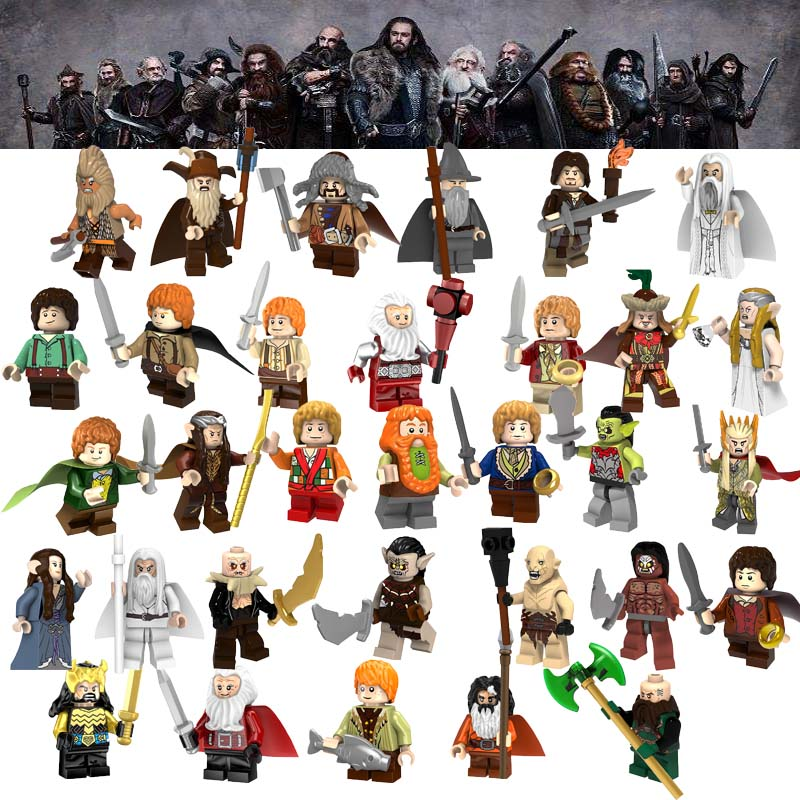 Lord Of The Ring Series Gandalf Saruman Radagast Sauron Thranduil Star Wars Figures Building Blocks Toys