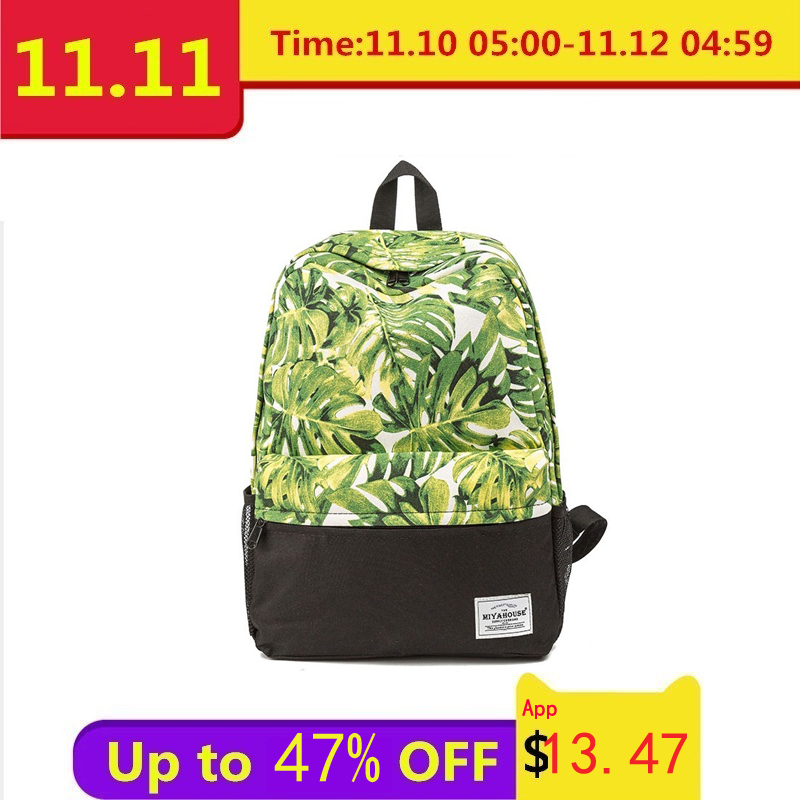 Miyahouse High Quality Cute Owl Printed Backpack For Teenager Girls Cartoon School Bags Women Canvas Travel Backpacks Mochila все цены