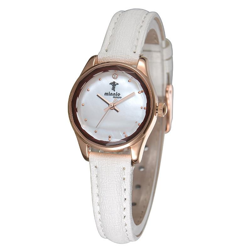 Original Disney womens wrist watch leather quartz ladies clocks Minnie mouse casual waterproof luxury Diamond number MK-11100