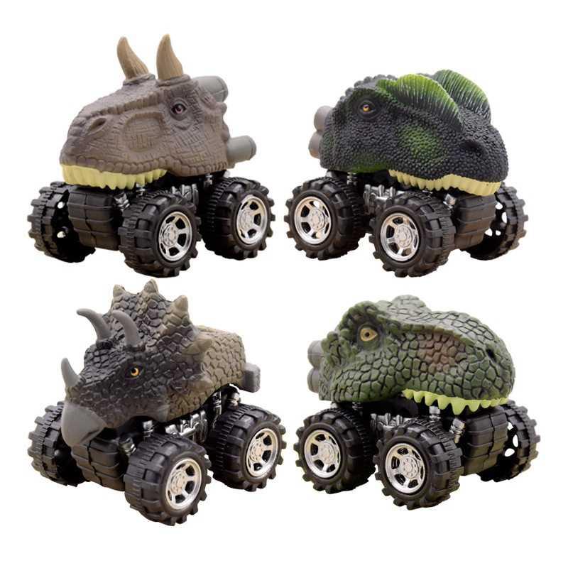 Jurassic World Dinosaur Model Pull Back Car Mini Car Vehicle Toy Educational Kids Toys Funny Dinosaurs Toy Cars  Birthday  Gifts