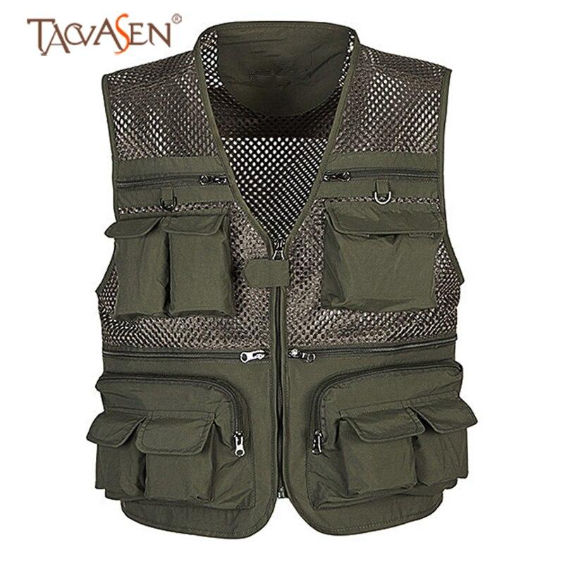 Camping & Hiking Popular Brand Tacvasen Men Multi-pocket Tactical Vest Outdoor Hiking Hunting Vest Summer Mesh Cooling Fishing Vest Big Size Men Sh-jyx-02