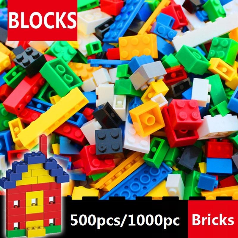 500 Pcs/1000 Pcs Building Blocks Set small bricks DIY Creative Bricks Toys For Child Education Bulk blocks Compatible lepin hot color 1000 pcs base building blocks diy bricks creative toys for child educational block bulk compatible with legoed