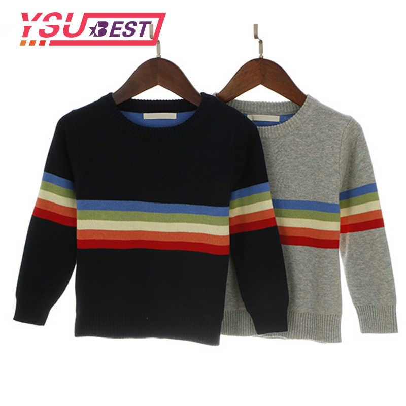 1-5 Year Boys Rainbow Children Knitwear Autumn Winter Fashion 2019 Baby Girl Clothes Outerwear Kids Pullover Tops Girls Sweater