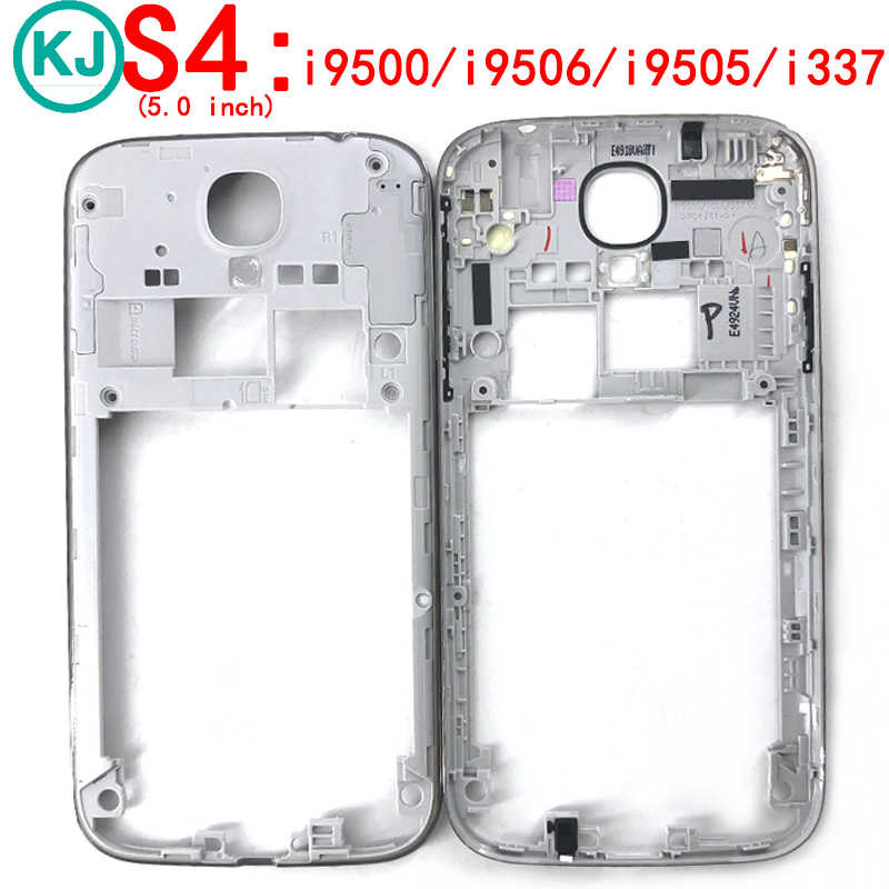 New S4 Middle Frame Housing For Samsung Galaxy i9505 i9500 i9506 i337 Mid Plate Bezel With Power Volume Key Black/Gold/Sliver