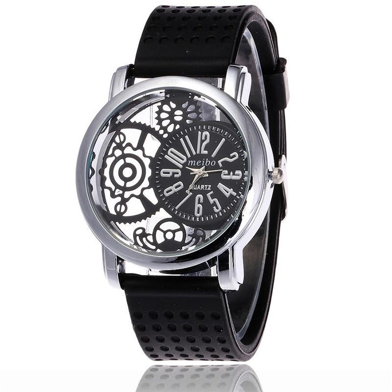 MEIBO 2087 women Fashion Silicone Watch Casual Women Dress Quartz Watches Clock цена и фото