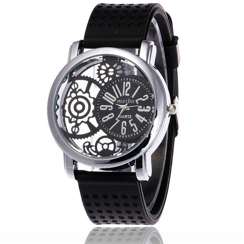 цена MEIBO 2087 women Fashion Silicone Watch Casual Women Dress Quartz Watches Clock онлайн в 2017 году