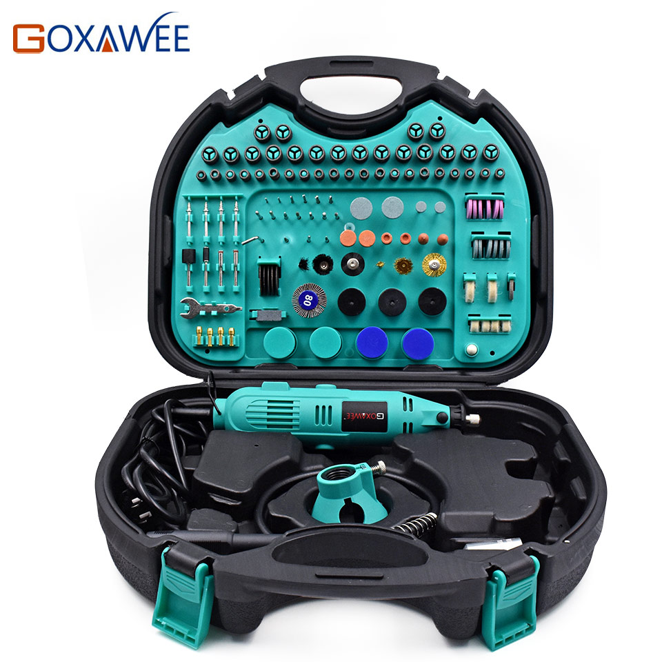 GOXAWEE Electric Drill Power Tools Mini Drills For Dremel Rotary Tools For Polishing Grinding Cutting Mini Grinder Tools trochilus400w drills grinding rotary machine mini grinder electric engravers adjustable angle grinder tools sets moledores80505