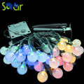NEW 6M 30 LED Bubble Ball String Lighting Holiday Christmas Wedding Party Curtain Decoration Solar Lights