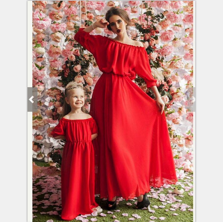 2d95d93f8194 2018 Mother And Daughter Dress Summer Girls Beach Clothing flower Print  Bohemia Style Mom and Me Clothes Family Matching Outfits-in Matching Family  Outfits ...