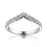 VS G F Solid 10k White Gold Engagement Ring Wedding Band Moissanites Anniversary Party Fine Jewelry V Shape Classic Brilliant
