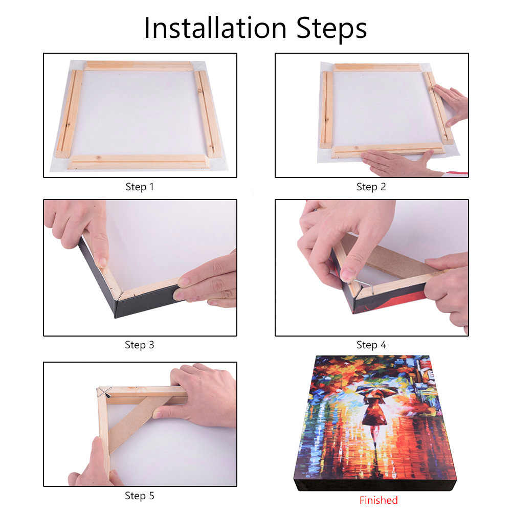 DIY Wooden Painting Inner Frame Photo Picture Frame Kit For Art Gallery Wrap