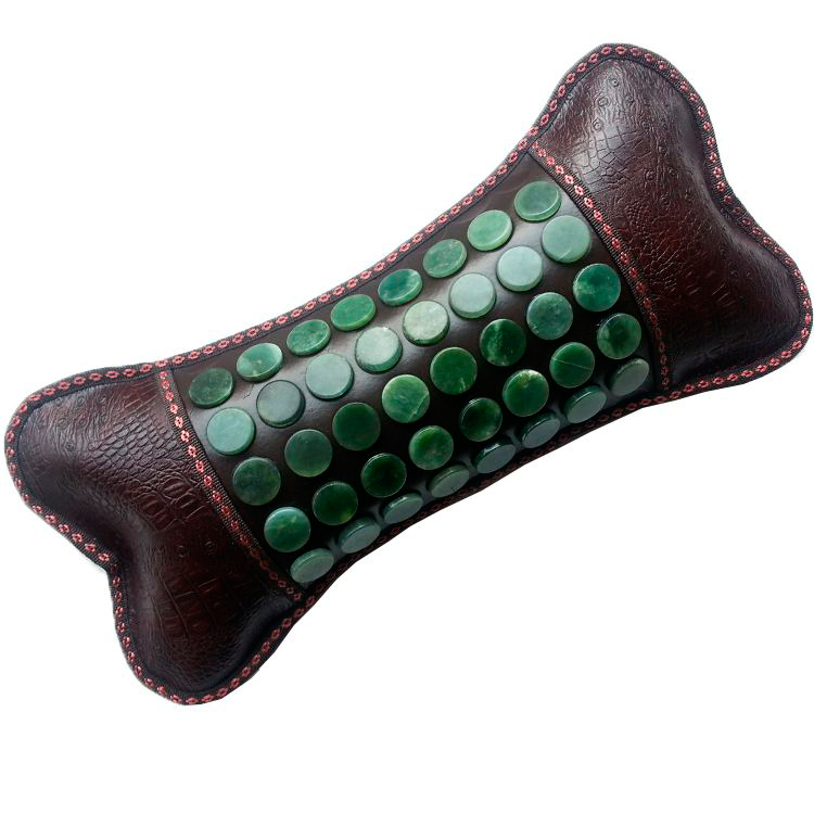Free Shipping Jade Physical Therapy Cushion Germanium Neck Pillow Tourmaline Health Heated Pillow Electric Health Care Pillow best selling korea natural jade heated cushion tourmaline health care germanium electric heating cushion physical therapy mat