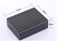 Алюминиевый корпус электрический проект случае PCB shell box 88 (3.46 «) X38 (1.49») X110 (4.33 «) мм DIY отдельный вид