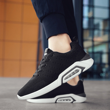 2019 Fashion Trendy Men Shoes Air Cushion Comfortable Light Lace Up Sneakers Walking Breathable Flying Weaving