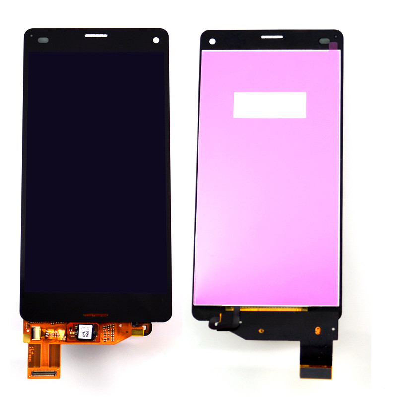Подробнее о LCD display For Sony Xperia Z3 mini compact D5803 D5833 M55W Touch screen with digitizer glass Assembly white Black 10pcs free dhl black white lcd display touch screen digitizer assembly with frame for sony xperia z3 mini compact d5803 d5833