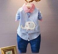 Baby Boy Spring Autumn Gentleman Clothing Sets Suit Newborn Baby Bow Tie T Shirt Pants 2pcs