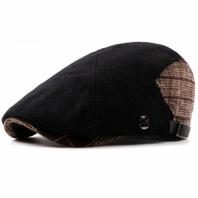 Ht1325 mujeres de estilo británico Otoño Invierno sombrero de la boina de  lana caliente Fieltro cabbie 978ff30aea0