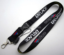 10pcs FATLACE style JDM Stance white hellaflush Lanyard Phone Neck Strap ID Key Chain 2colors(China)