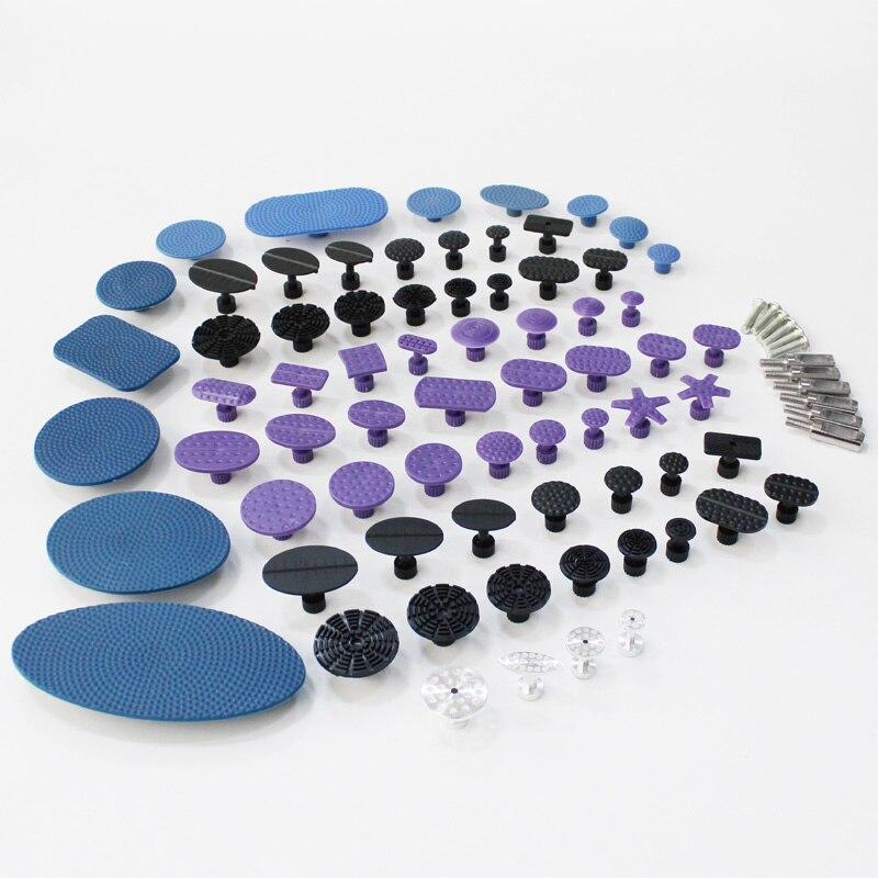 Onglets de colle outils pdr outils de retrait de dent sans peinture systèmes de traction de colle de réparation de dent grand kit perforé rond ovale en aluminium de nylon