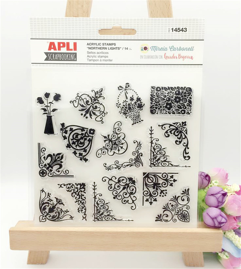 flowers and plants beauty lace Transparent Clear Stamp DIY Silicone Seals Scrapbooking Card Making Photo Album craft LL-027 flowers lace design transparent clear stamp diy silicone seals scrapbooking card photo album for wedding gift cl 192