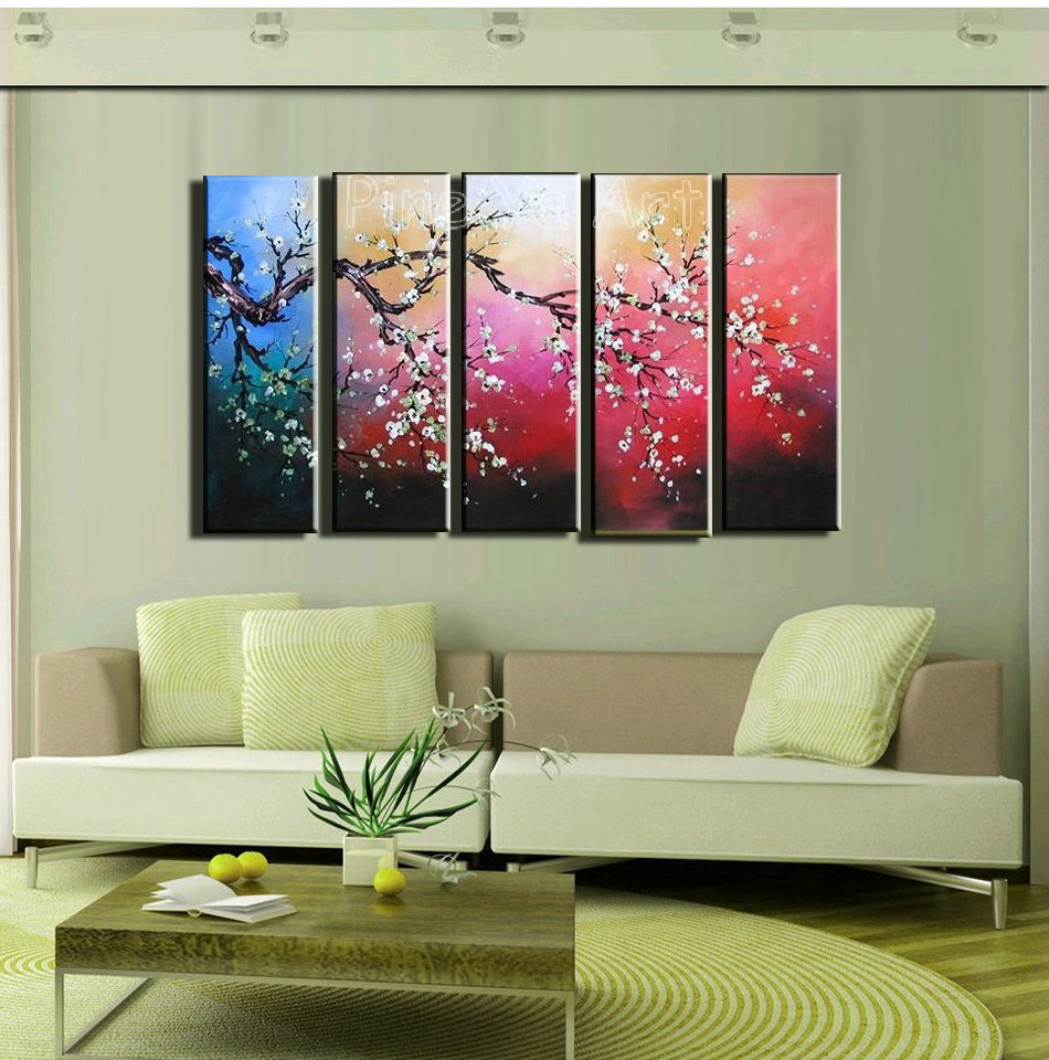 5 Piece Modern Abstract Wall Canvas Art Large Decorative