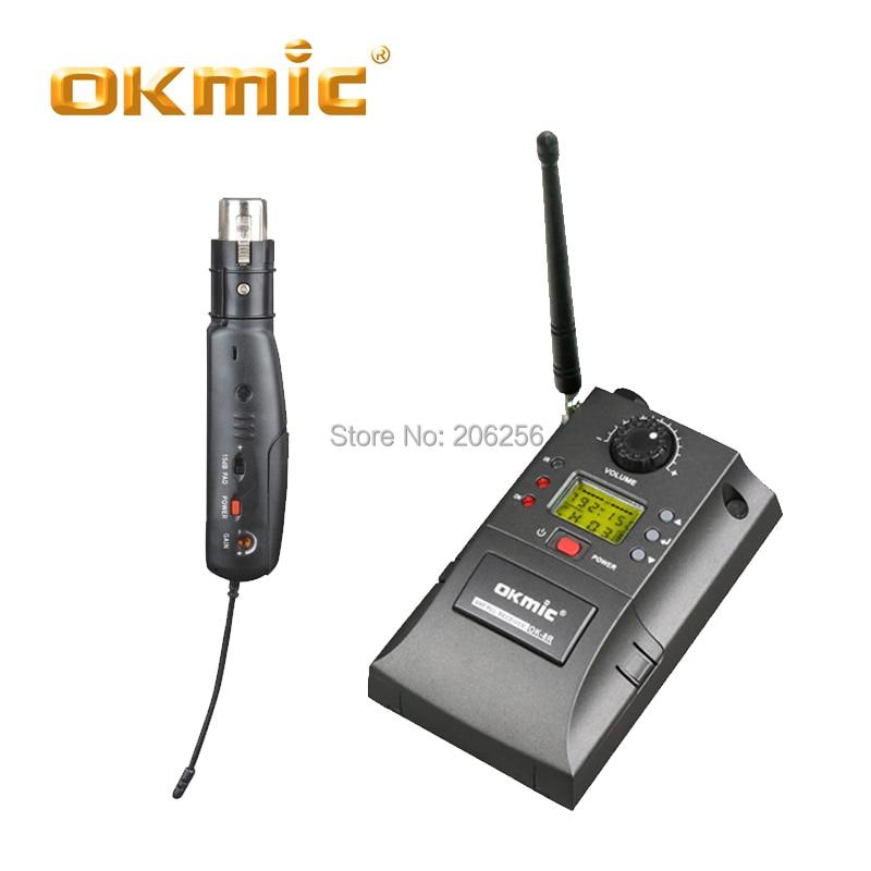 Okmic OK 8R/AH15ミニトランスバータ有線にワイヤレスconverientと柔軟なxlrワイヤレス転送トランスミッタ  グループ上の 家電製品 からの マイクロフォン の中 1