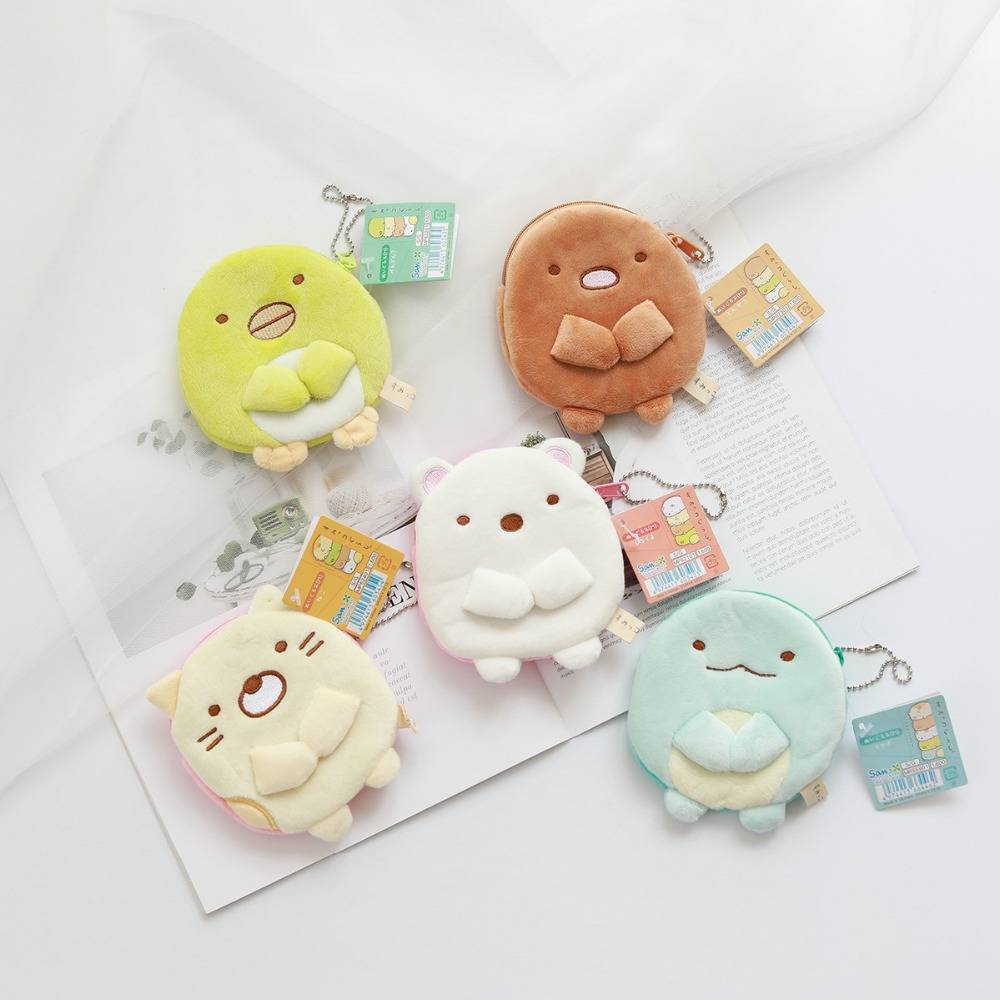 1 Pc Kawaii Japan Corner Biology Plush Coin Purse Japanese Animation Sumikko Gurashi Animal Cartoon Bag San-X Plush Toys