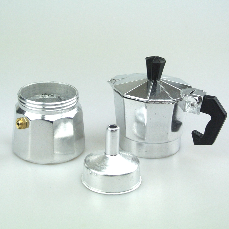 Ecombird Ecombird 1 PC Free Shipping 1cup   Aluminum Moka Pot Coffee Maker 1Cup Counted Mocha Pot  Espresso Coffee Maker