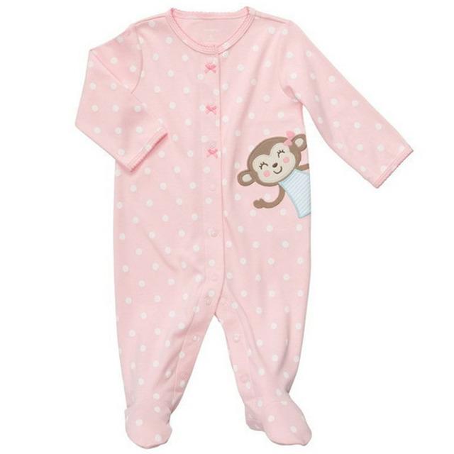 Nova Moda de Alta Qualidade 100% Do Bebê Do Algodão Roupas de Menina manga Longa Romper macacão Roupa Do Bebê