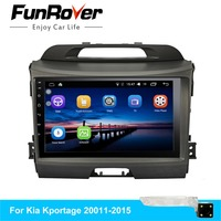 FUNROVER Quad core android 8.0 car dvd for KIA sportage 2010 2015 gps navigation car radio video stereo multimedia player 2 din