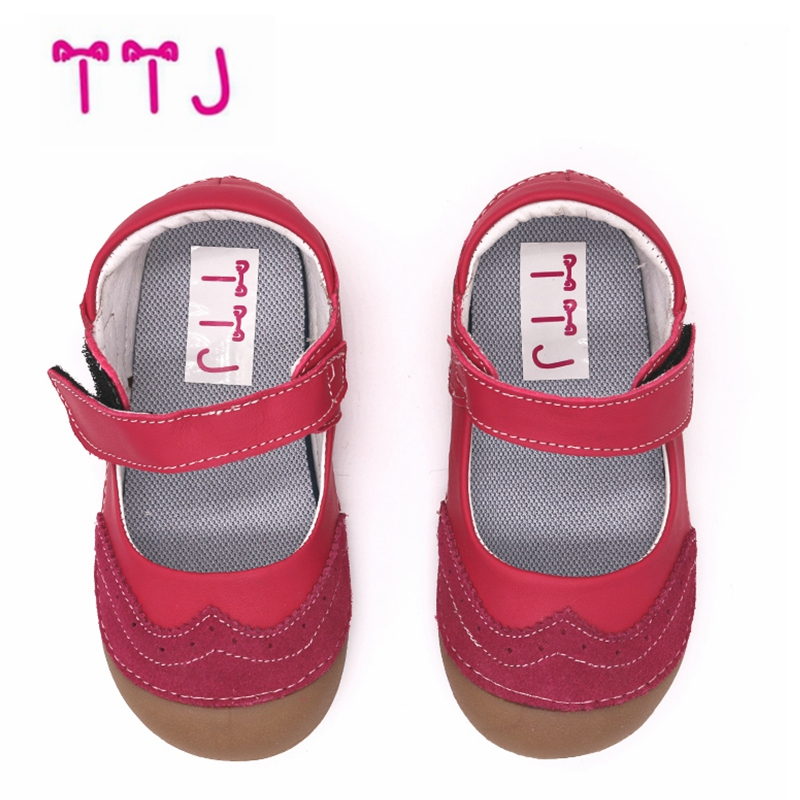 TTJ High quality Spring Autumn Children Leather Shoes Classic Vintagel Boys Girls  Kids Leather Natural leather children