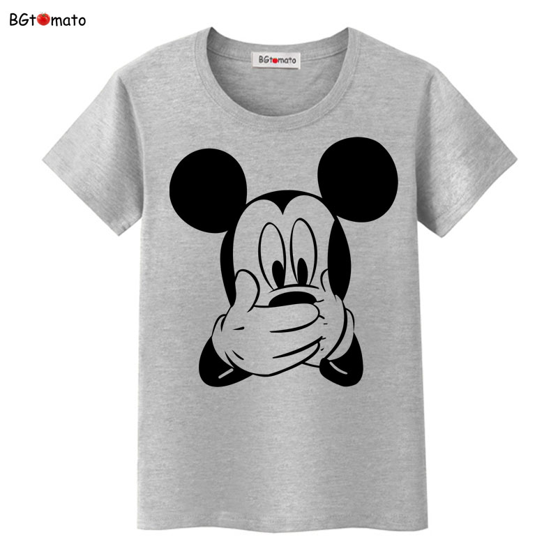 BGtomato T Shirt 3D Cartoon Funny T-shirt Women Lovely Design Popular Mickey Tshirt Cheap Sale Brand Blusa Mickey