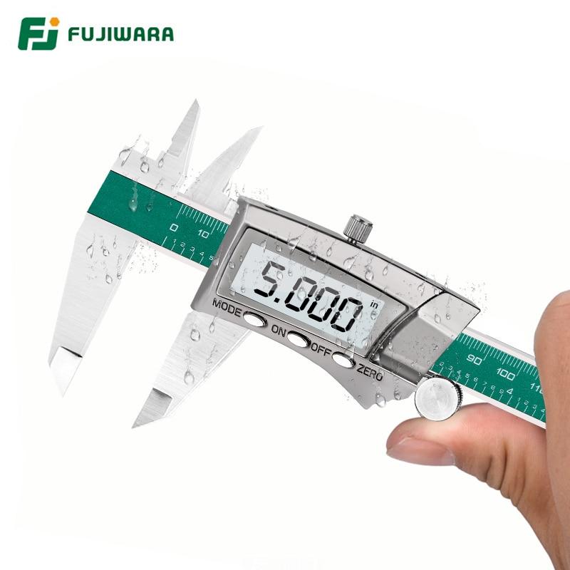 FUJIWARA MM Steel Caliper Digital Electronic Stainless Display Fraction Vernier 64 0  Inch LCD 150mm 1 Caliper