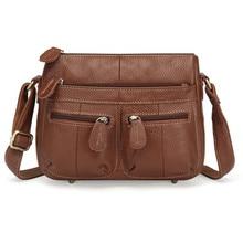 100% Top Cowhide Genuine Leather Women Messenger Bags Female Small Shoulder Bag Vintage crossbody for bolsa feminina 2019 MM2317 цена и фото