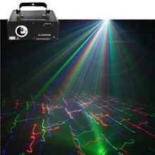 AUCD 500mW 5 In 1 RGB 3D Network Laser Program Source 13 CH DMX Projector Stage Lighting PRO DJ Show KTV Scanner Light DJ-504RGB