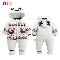 ZOFZ Baby Clothes For Boys 2018 Autumn And Winter Warm Soft Romper Kids Cotton Fashion Animal