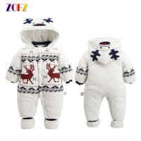 ZOFZ Baby Clothes For Boys 2017 Autumn And Winter Warm Soft Romper Kids Cotton Fashion Animal
